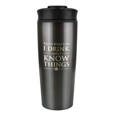 Game of Thrones I Drink & I Know Things Metal Travel Mug