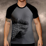 Game of Thrones Stark Wolf Grey Contrast Mens T-Shirt