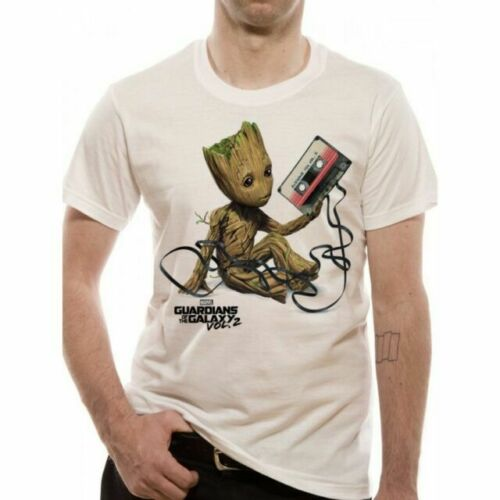 Guardians of the Galaxy Mixtape Groot Mens T Shirt - White