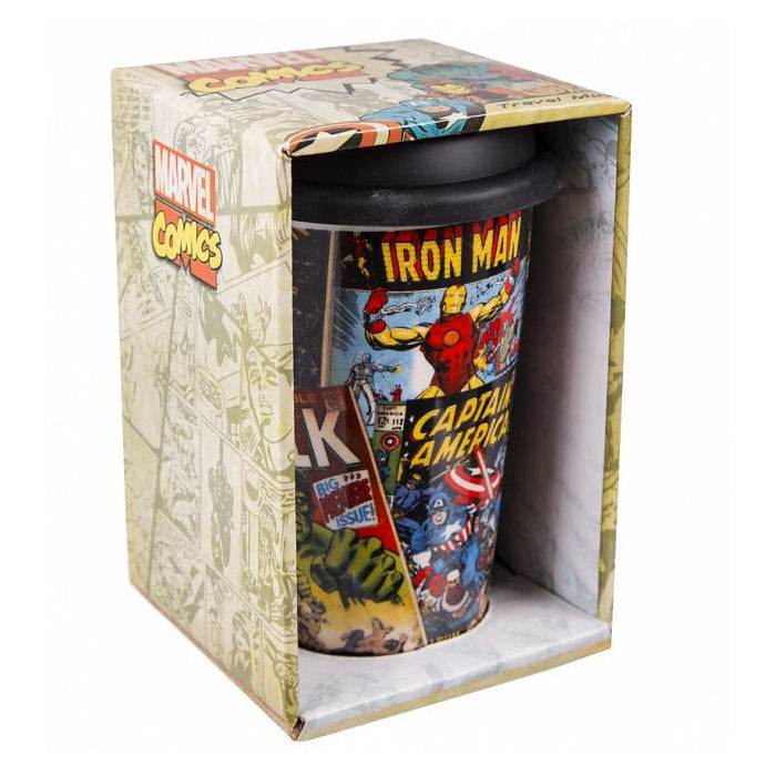 Marvel Comic Book Retro Travel Mug | Marvel Gift for Him | Beth & Bunn
