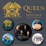 Queen Album Covers Badge Set