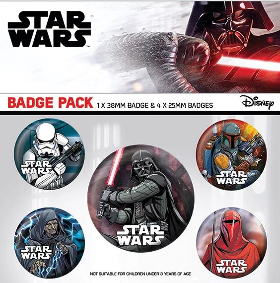 Star Wars Dark Side Badge Set