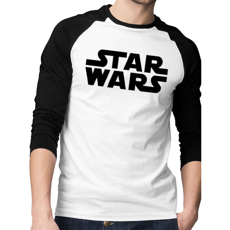 Official Star Wars Logo Baseball Raglan Mens T-Shirt | Beth & Bunn