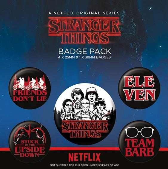 Stranger Things Character Badge Set