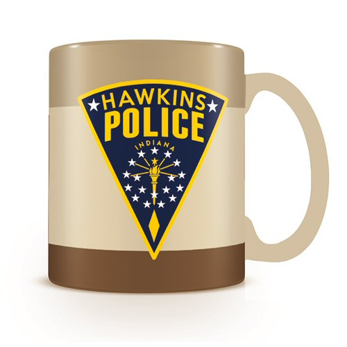 Stranger Things Hopper Hawkins Police Mug