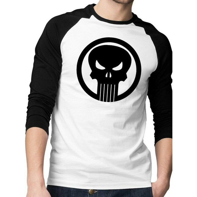 Punisher Skull Raglan T Shirt