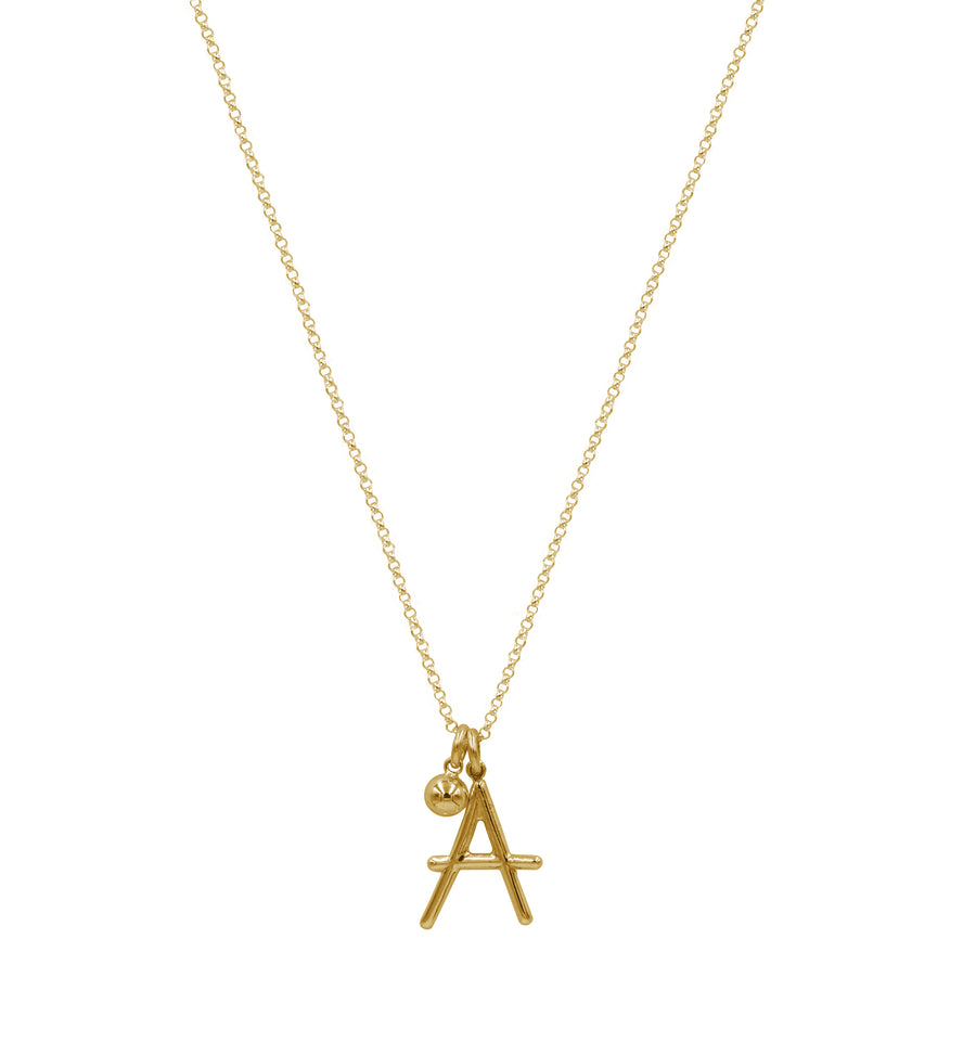 INITIALS YELLOW GOLDPLATED
