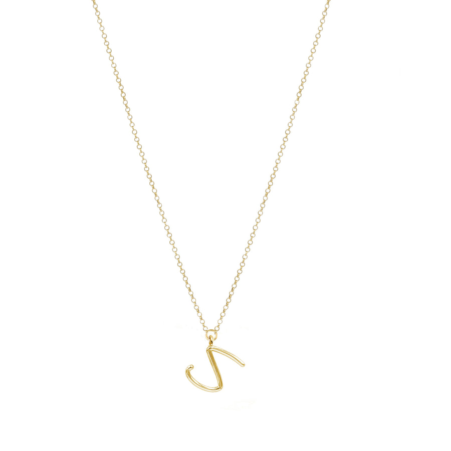 MINI INTIALS YELLOW GOLD PLATED NECKLACE