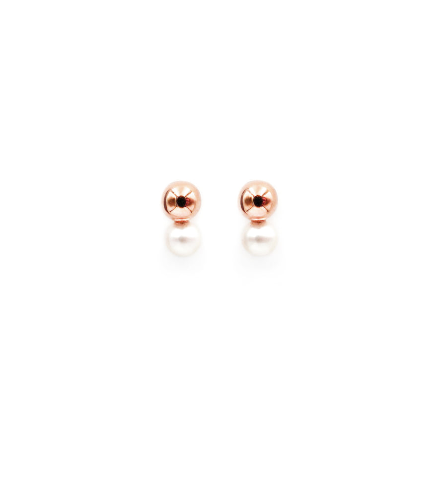 Basic Twin Rose Gold Plated Earrings