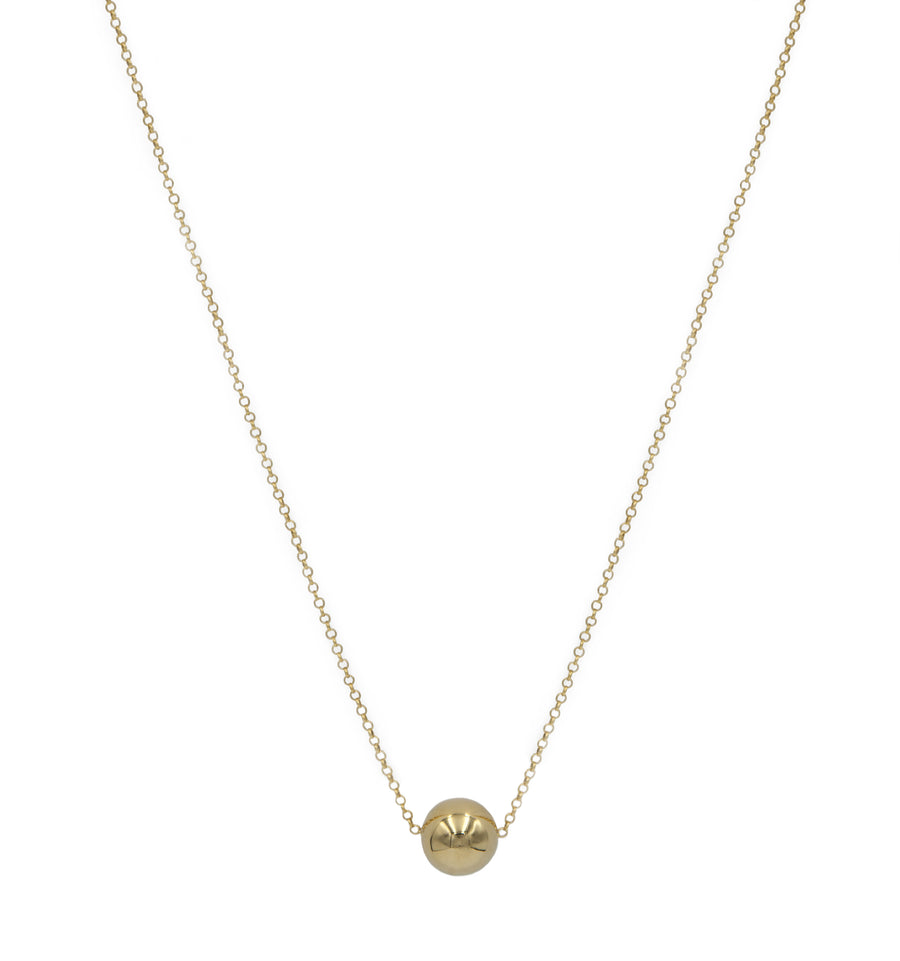12mm Sphere Necklace Yellow Goldplated