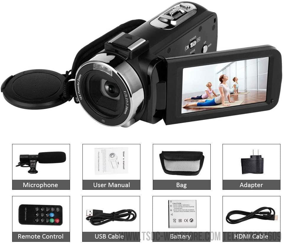 Cámara de vídeo 4K 48MP WiFi 16x Zoom Digital para Grabación y Video Live Streaming (Entrega en 10 días)-Cámaras Web-TSDC Webstore