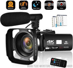 Cámara de vídeo 4K 48MP WiFi 16x Zoom Digital para Grabación y Video Live Streaming (Entrega en 10 días)