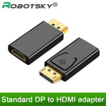 Adaptor de DisplayPort a HDMI Macho DP a Hembra HDMI HD TV