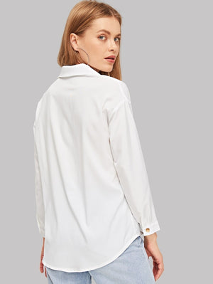 ALECTRONA Button Up Long Sleeve