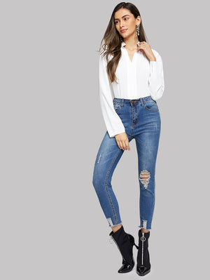 APATE V-Cut Neck Blouse
