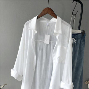 ZOE White Long Blouse
