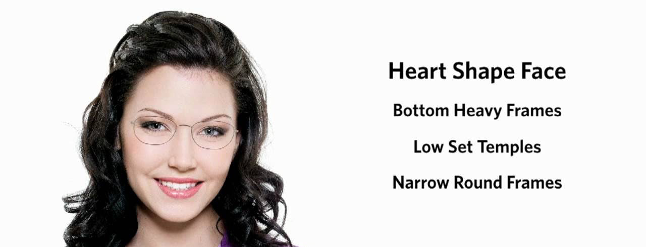 How to choose glasses for the heart-shaped face