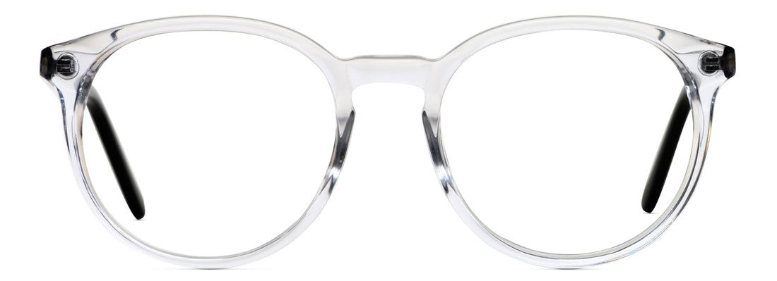 clear frame prescription glasses