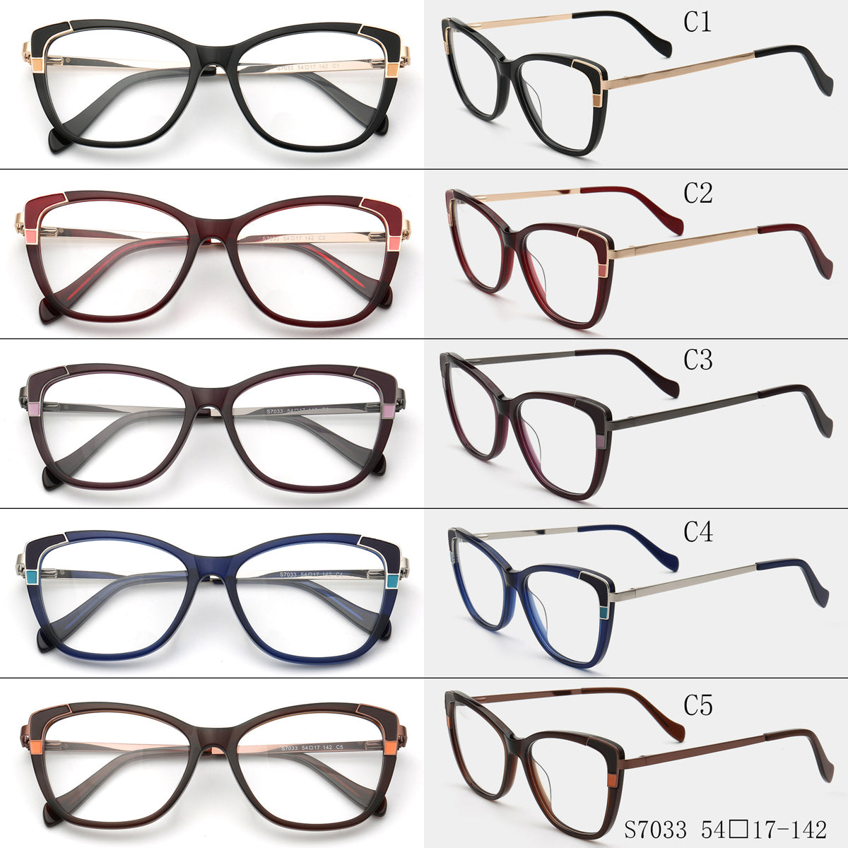 Cat-Eye Glasses S7033