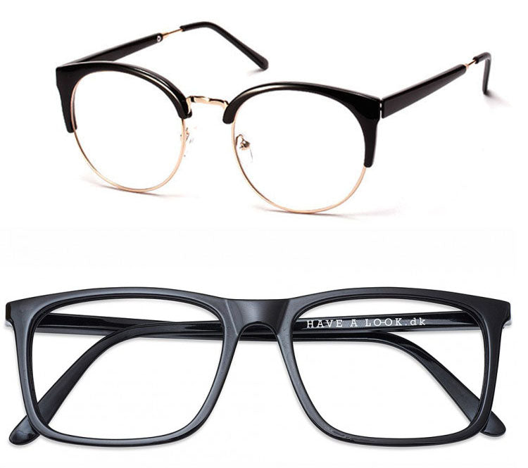 Different styles of glasses frame