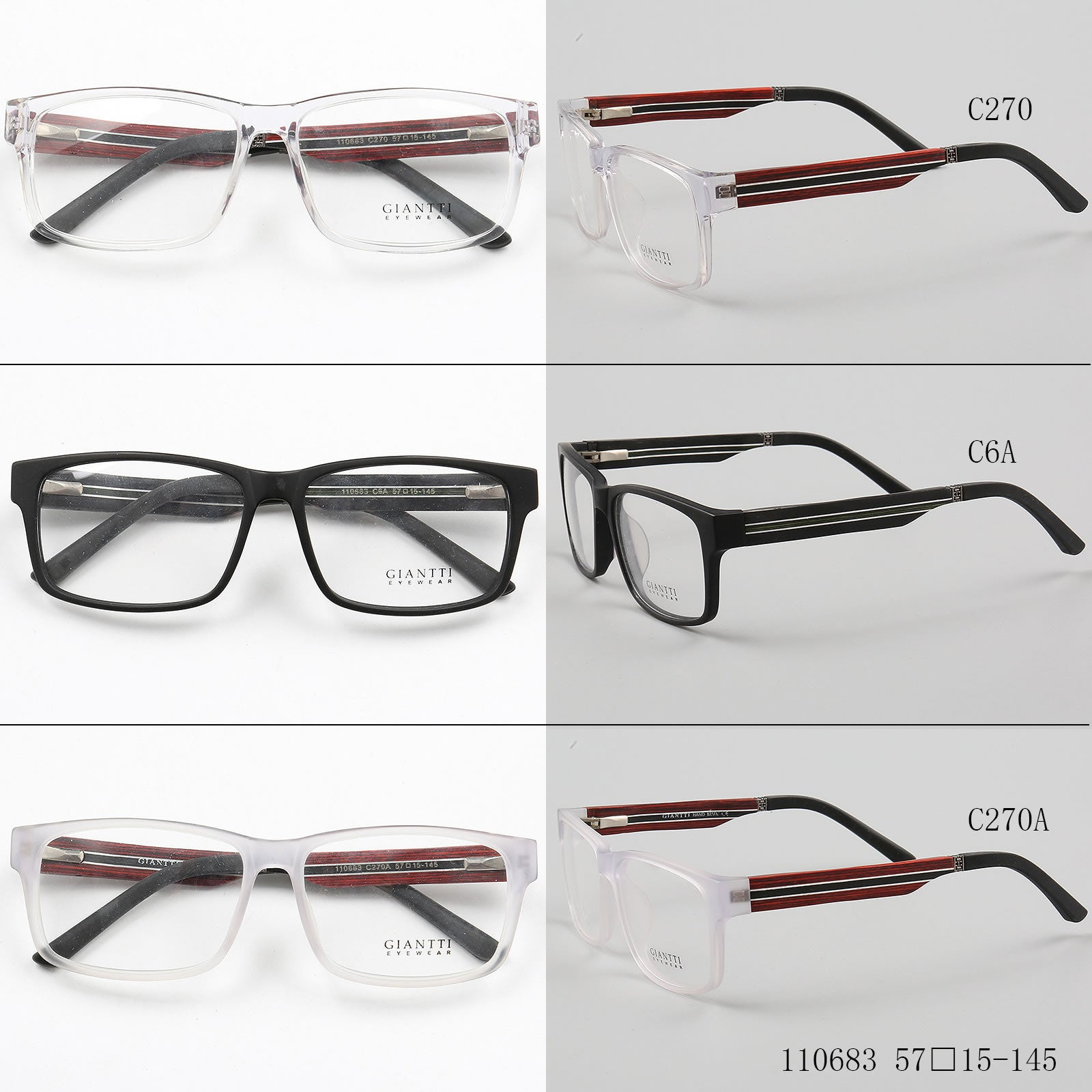 Square Glasses 110683