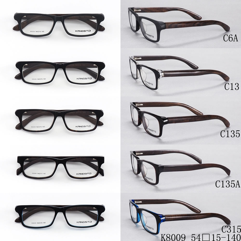 Full Frame Mixed Materials  Square Eyeglasses Frames Model K8009