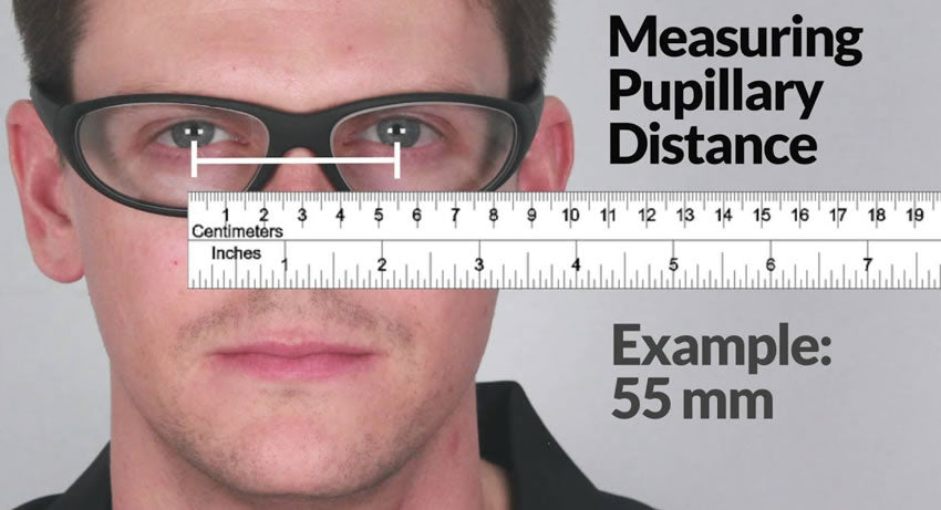How can you measure the pupillary distance