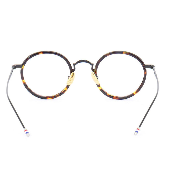 Vintage Eyeglasses Frames TB906 Metal Round Prescription Glasses
