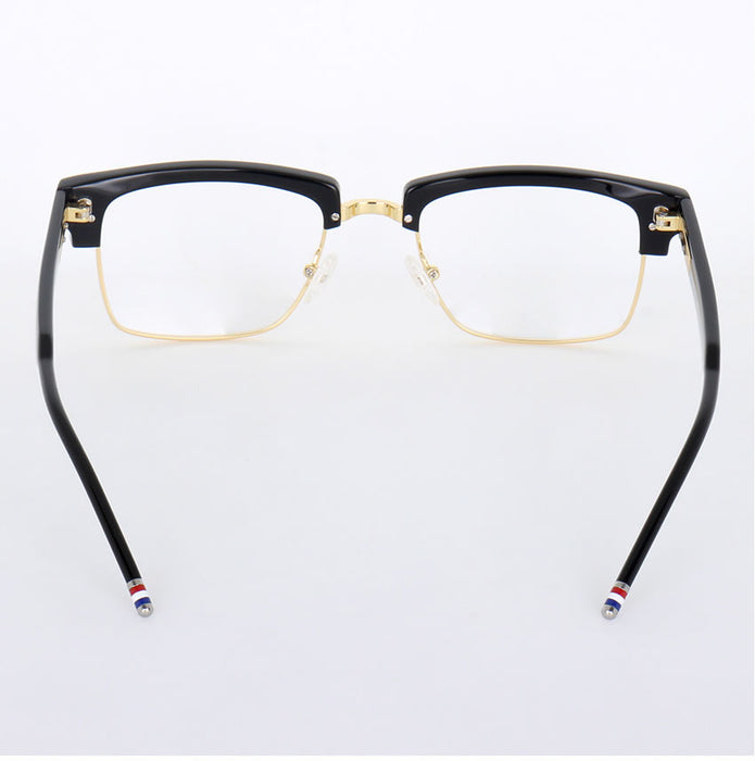 Vintage Eyeglasses Half Frame TB806 Metal Square Prescription Glasses