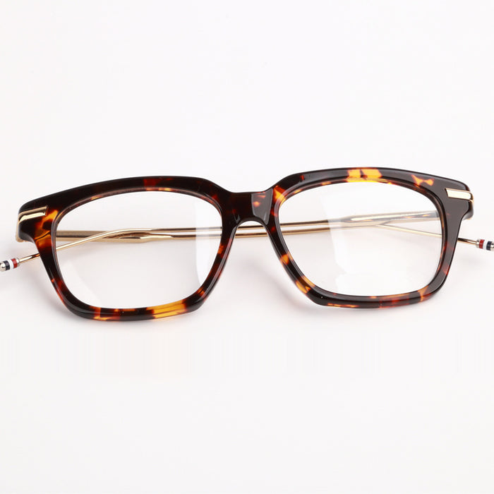 Retro Eyeglasses Frame TB701 Mixed Materials Square Prescription Glasses