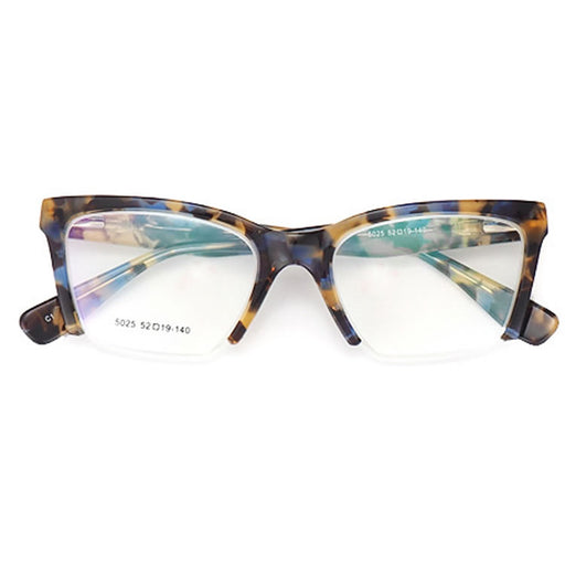 Semi-Rimless Square Glasses 5025