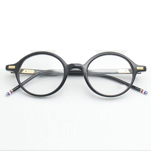 Vintage Eyeglasses Frames TB407 Acetate Round Prescription Glasses