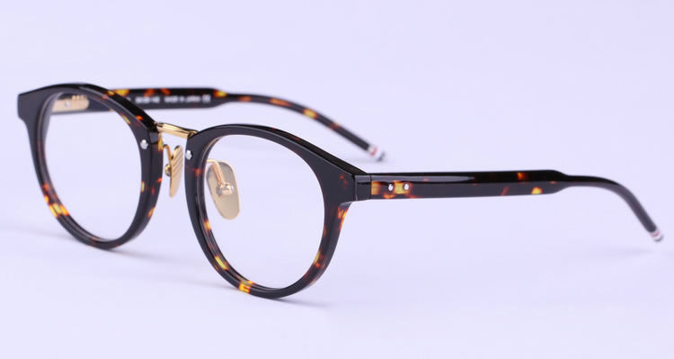 Full Frame Acetate Round Eyeglasses Frames Model TB008