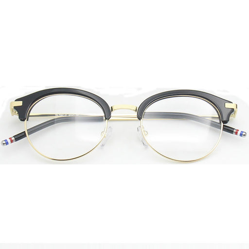 Vintage Eyeglasses Frames TB706 Mixed Materials Round Prescription Glasses