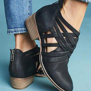 f825685d0f8a Fashion Trend Openwork Booties Stylish Women s Shoes – MFSUGAR.COM