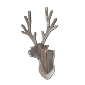 Coat Rack Deer Grey Wash