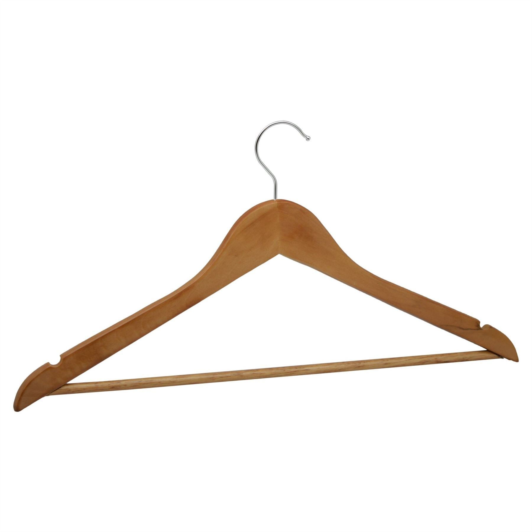 Harbour Housewares Wooden Clothes Hanger - Natural Brown
