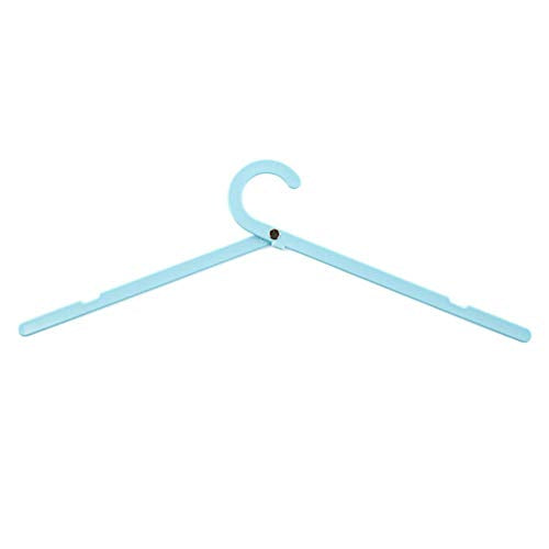 1PC Clothes Hangers Portable Hanger for Clothes Folding Clothes Hangers for Travel Multi-Function Windproof Clother Hanger (Blue)