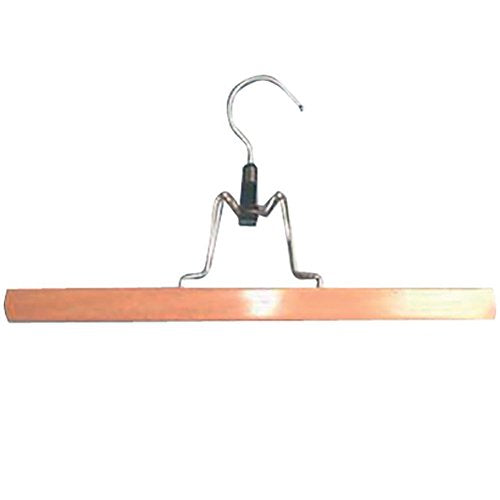 MSV Clothes Hangers for Skirts 30cm of Wood, Metal Brown/Silver, 30 x 20 x 15 cm