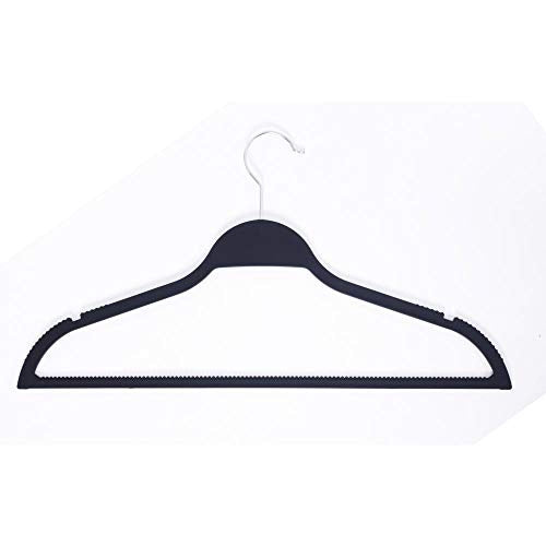 Black Extra Non Slip Rubber Coated Suit Hanger (30 Pack)