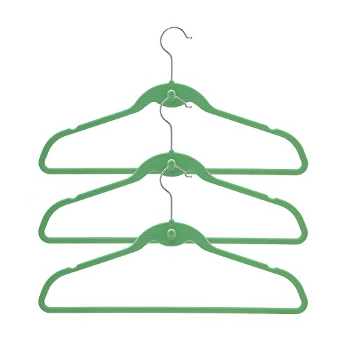 BriaUSA Cascade Hangers Green Steel Swivel Hooks -Slim, Sturdy Saves You Extra Space - Box of 20