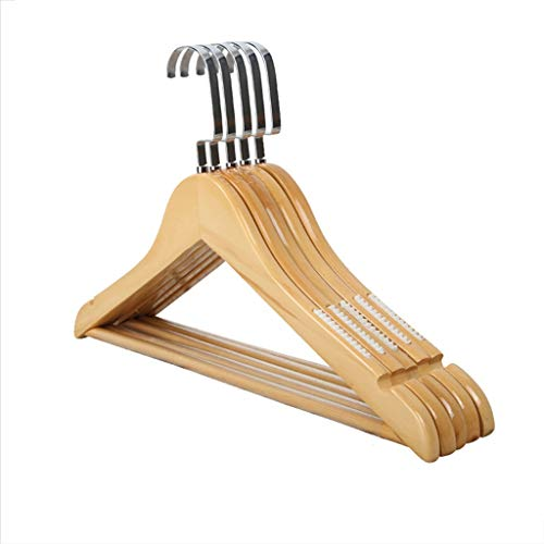CGF-Drying Racks Hanger Wood Non-Slip A Pack of 10 Solid Pants Rack for Suit Skirt Jacket Size (40x24x1.2) cm Womens
