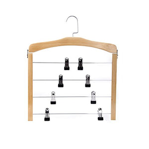FORWIN- Hanger Solid Wood Multilayer Family Trousers Rack Multifunctional Hanger 1 Pack hanger (Color : Wood color)