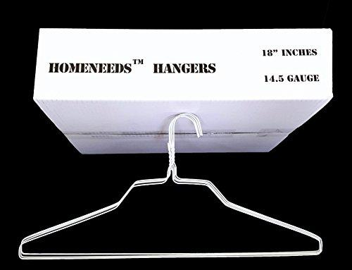 100 Wire Hangers 18  Standard White Clothes Hangers
