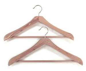 Cedar Elements Wide Coat and Suit Hangers - 2 Pack