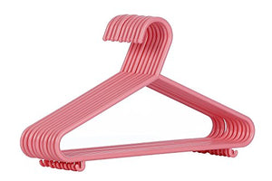 AzxecVcer Kids Plastic Hangers Nursery Hangers with Hooks for Baby, Toddler, Kids, Children (30, Pink)