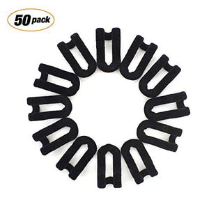Bondream 50 pcs Mini Cascading Hanger Hooks Connector for Stack Clothes and Make Your Closet Space-saving, Black