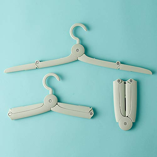 FUNZON Hangers Foldable Clothes Hangers for Travel Household Plastic Hangers for Coat Suit Pants 5 PCS/Pack FH022 (5)