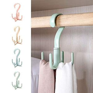 clothes hanger Multipurpose Plastic Scarf Hanger Belt Bag Storage Rack Hat Rack