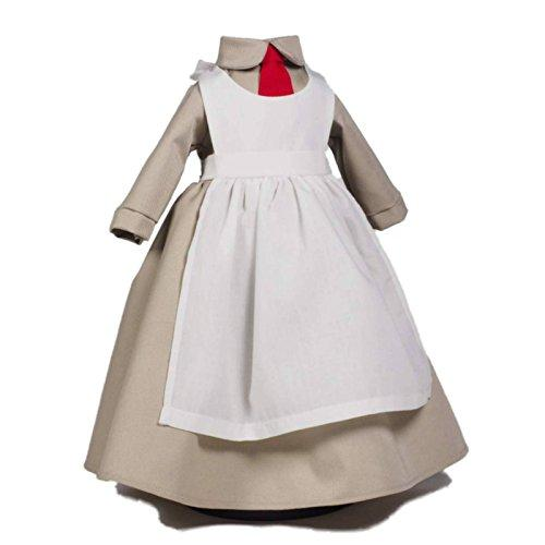18 Inch Doll Salvation Army World War I Donut Girl Uniform Set Designed To Fit 18 Inch American Girl Dolls Clothes & Accessories. Historic Doughnut Girl Beige Taupe Dress With White Apron.